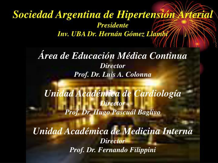 Sociedad Argentina de Hipertensión Arterial