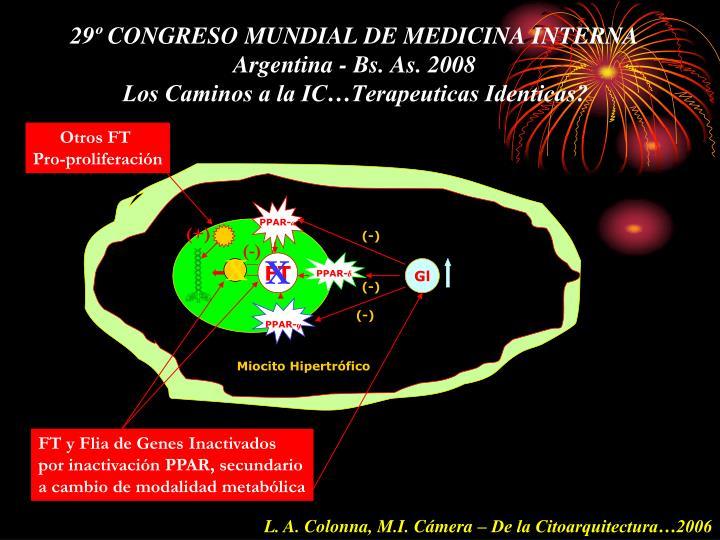 29º CONGRESO MUNDIAL DE MEDICINA INTERNA