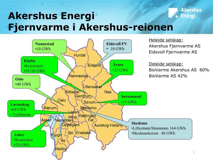 Akershus energi fjernvarme i akershus reionen