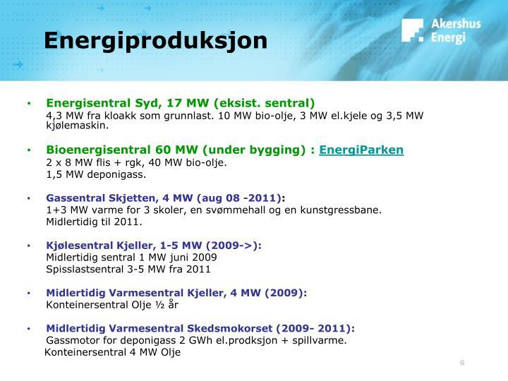 Energiproduksjon
