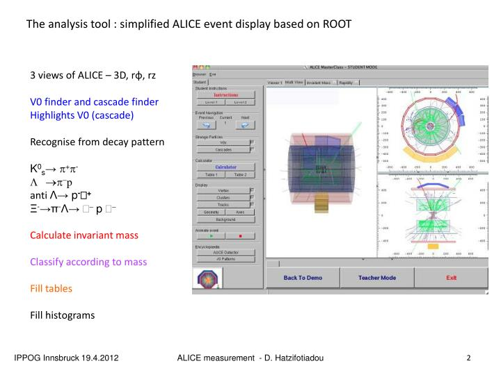 The analysis tool : s