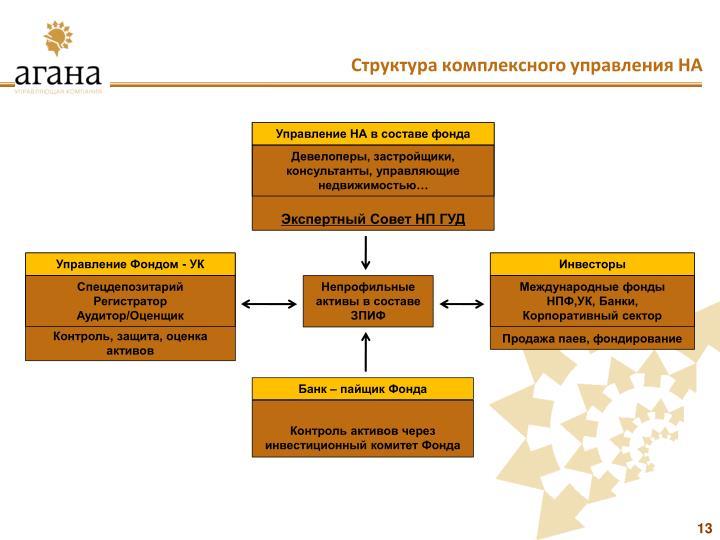 Структура комплексного управления НА