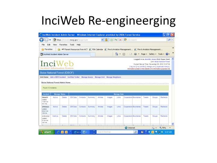 InciWeb Re-engineerging