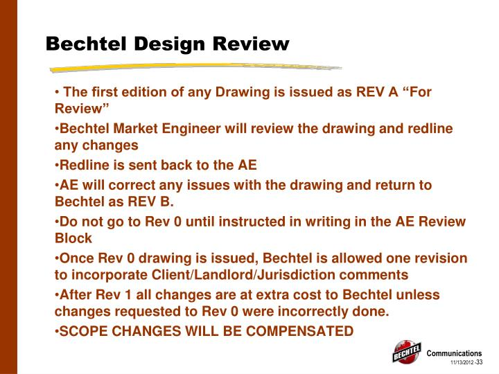 Bechtel Design Review