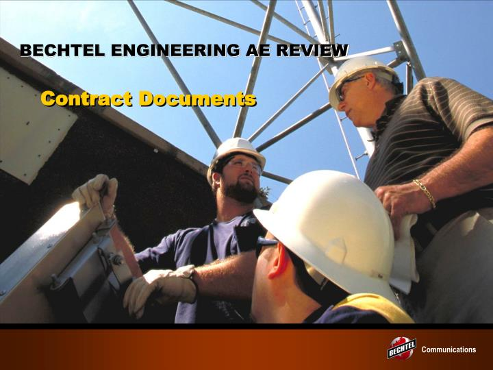 BECHTEL ENGINEERING AE REVIEW