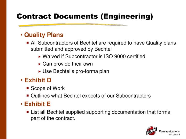 Contract Documents (Engineering)
