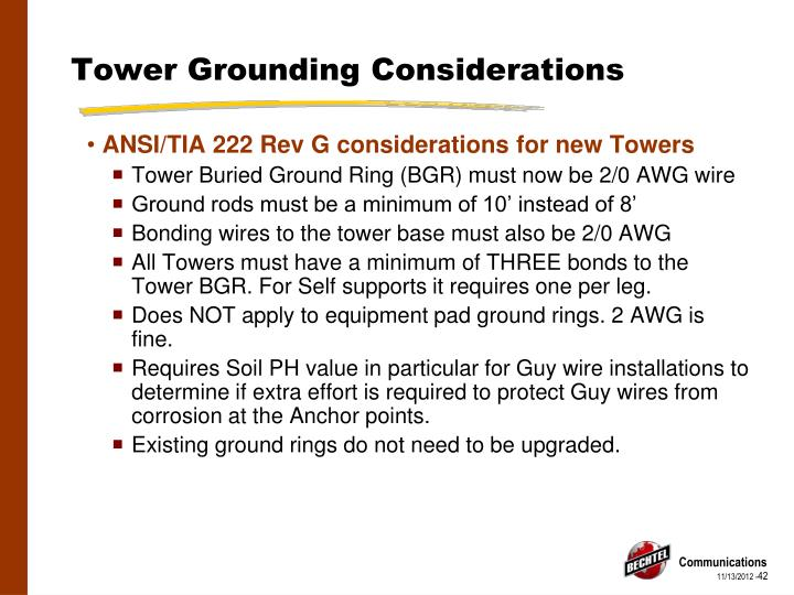 Tower Grounding Considerations