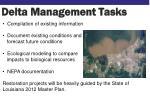 delta management tasks