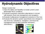 hydrodynamic objectives