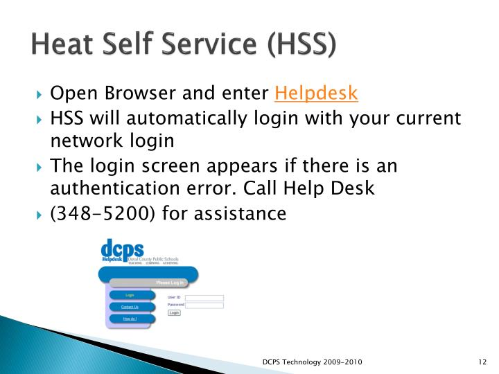 Heat Self Service (HSS)