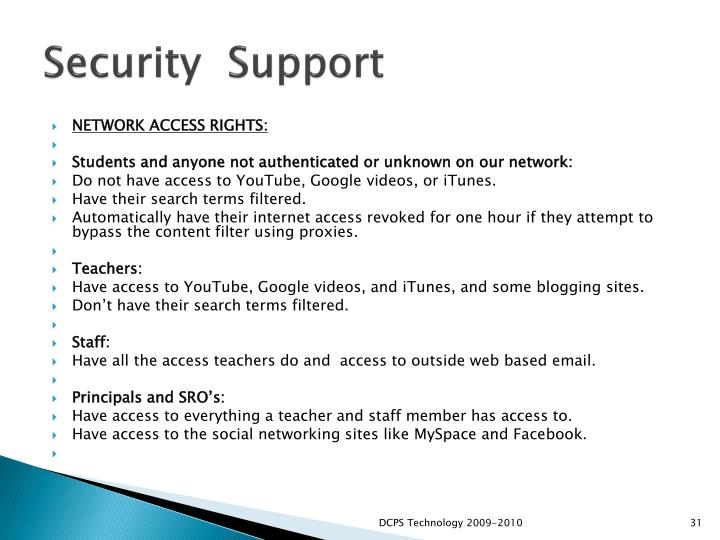 Security  Support