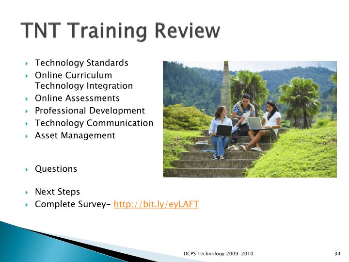 TNT Training Review