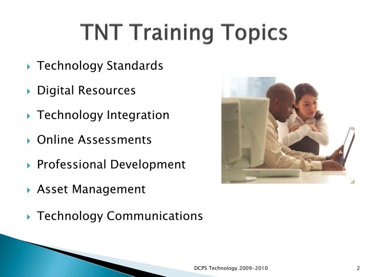 Tnt training topics