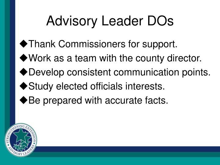 Advisory Leader DOs