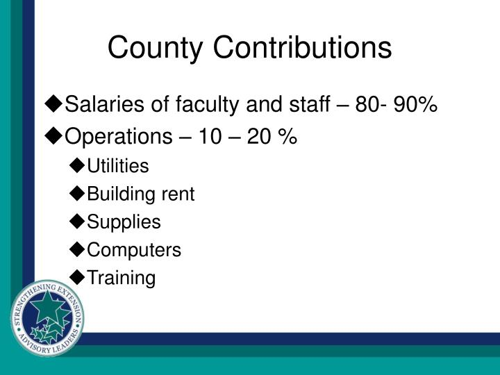 County contributions
