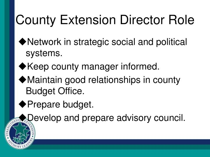 County Extension Director Role
