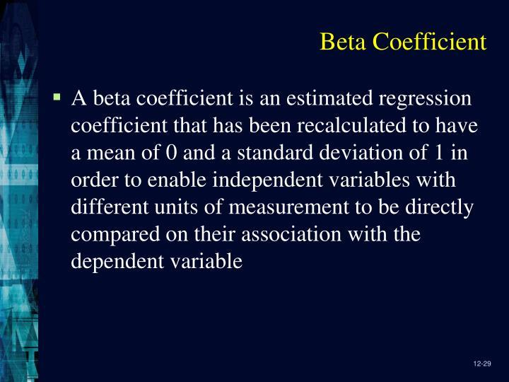 Beta Coefficient