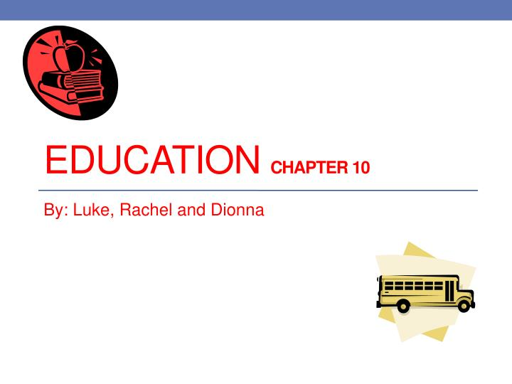 education chapter 10 n.