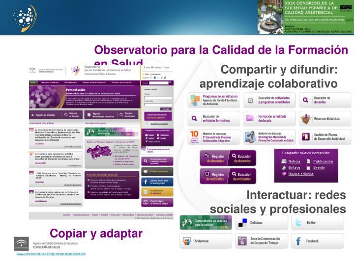 Observatorio para la Calidad de la Formación en Salud