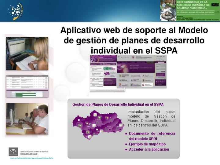 Aplicativo web de soporte al Modelo de gestión de planes de desarrollo individual en el SSPA