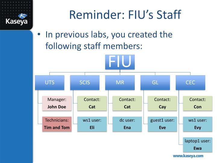 Reminder: FIU's Staff