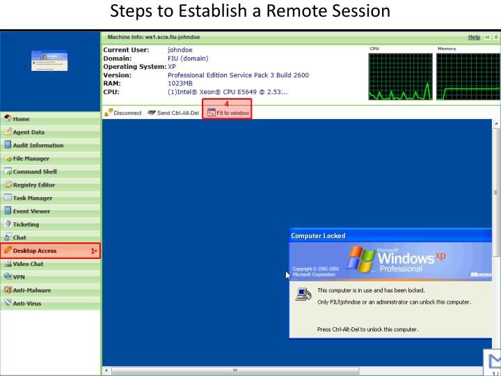 Steps to Establish a Remote Session