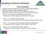 sampling of airborne pollutants1