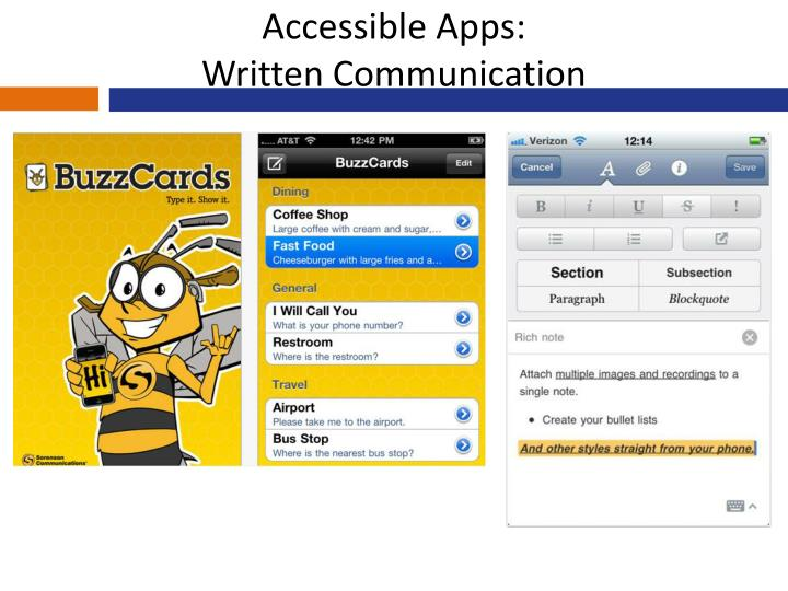 Accessible Apps: