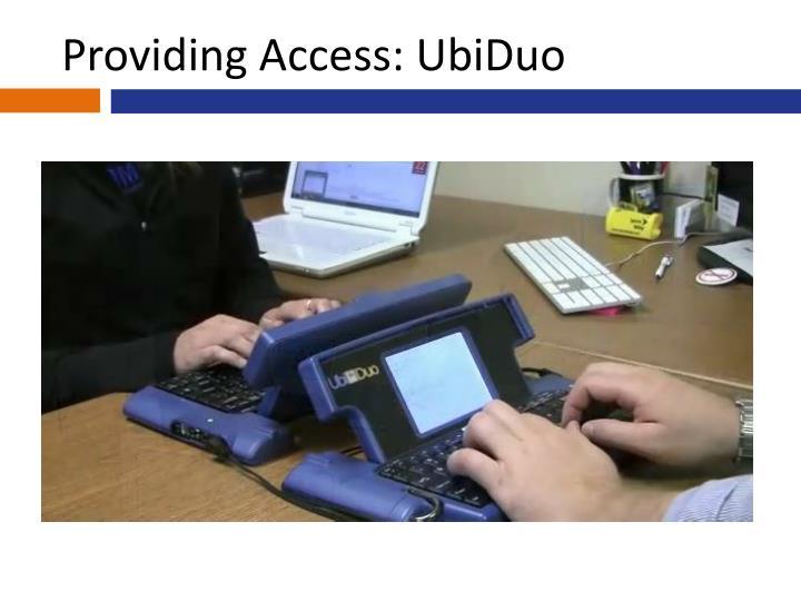 Providing Access: