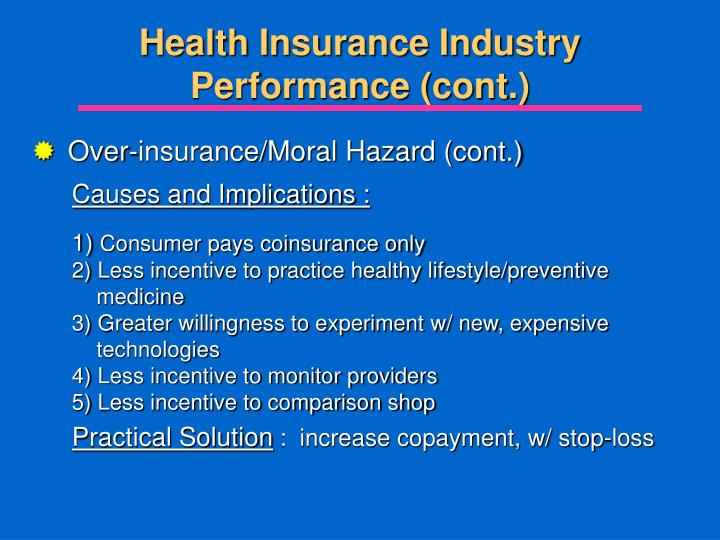 Health Insurance Industry Performance (cont.)