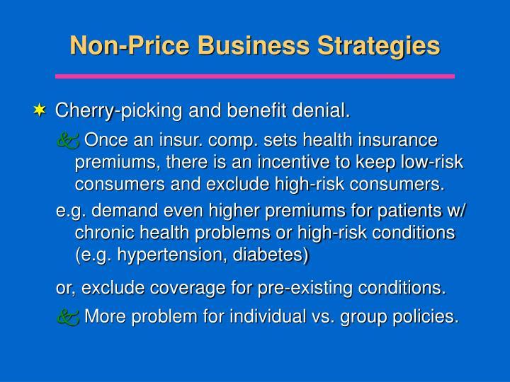 Non-Price Business Strategies