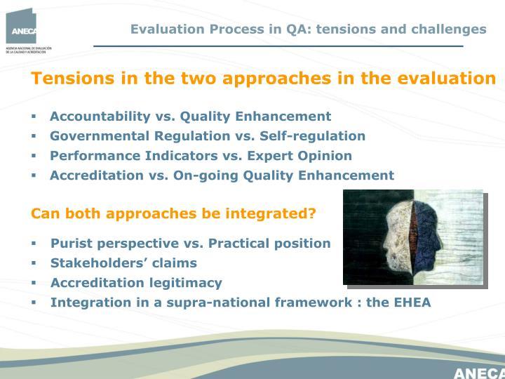 Accountability vs. Quality Enhancement