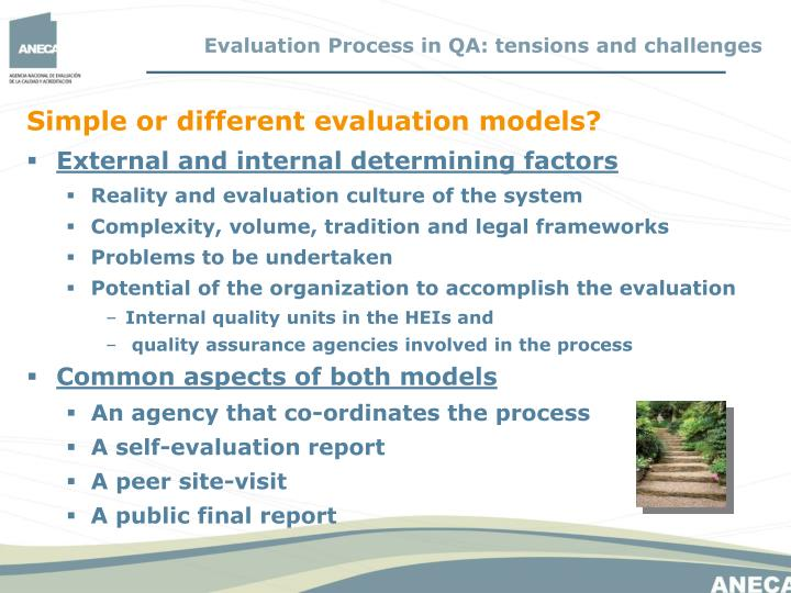 Evaluation Process in QA: tensions and challenges