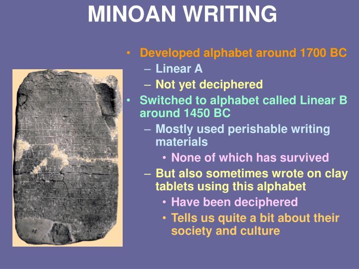 MINOAN WRITING