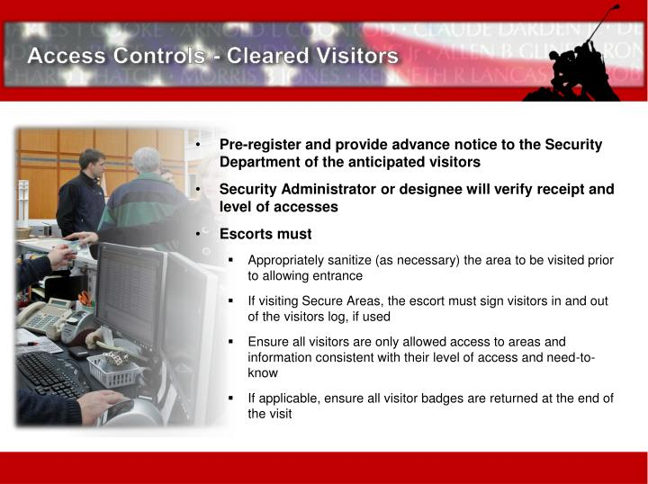 Access Controls - Cleared Visitors
