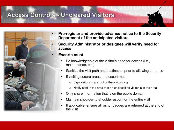 Access Controls -