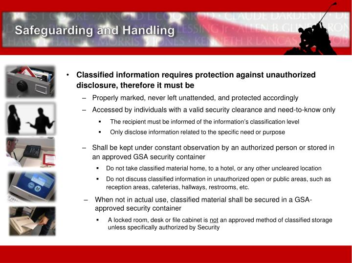 Safeguarding and Handling