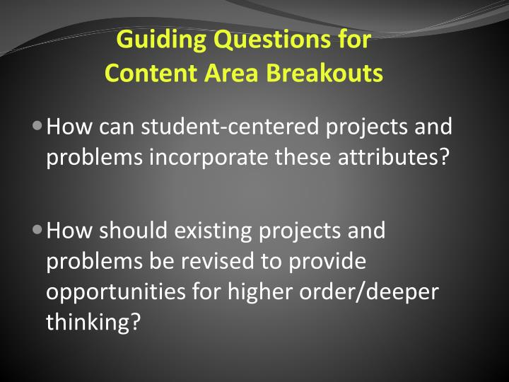 Guiding Questions for