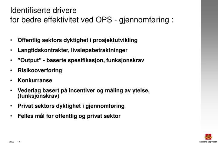 Identifiserte drivere