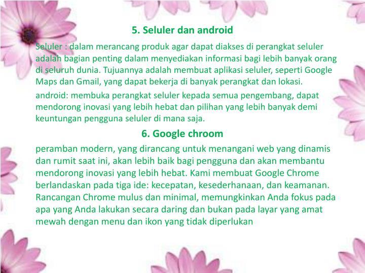 5. Seluler dan android