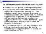 le contraddizioni e le criticit del decreto2
