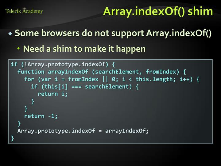 Array.indexOf