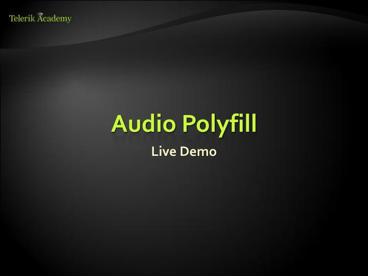 Audio Polyfill
