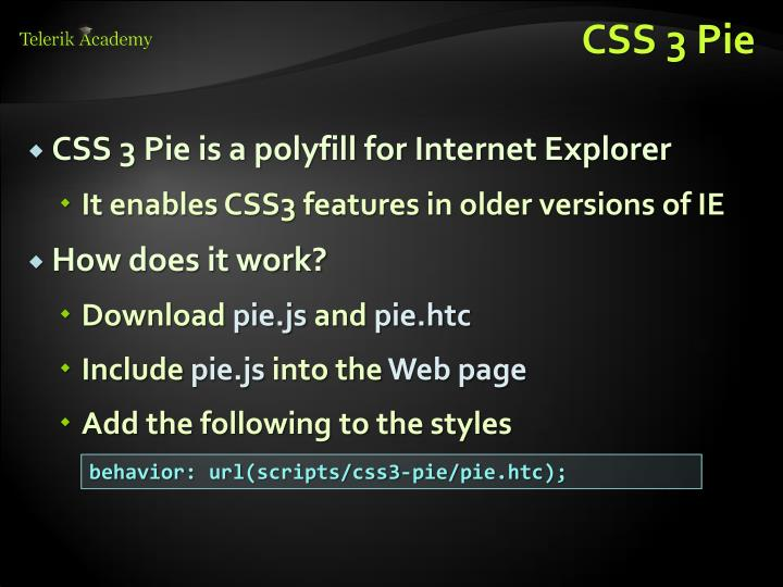 CSS 3 Pie