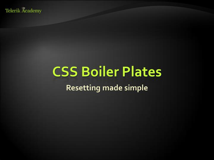 CSS Boiler Plates