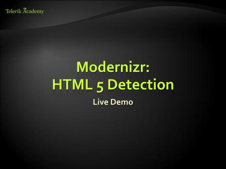 Modernizr: