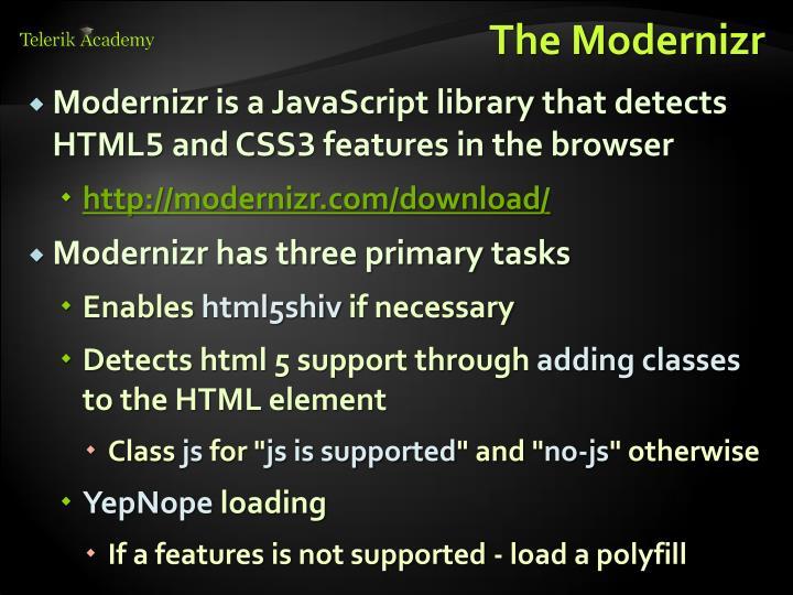 The Modernizr