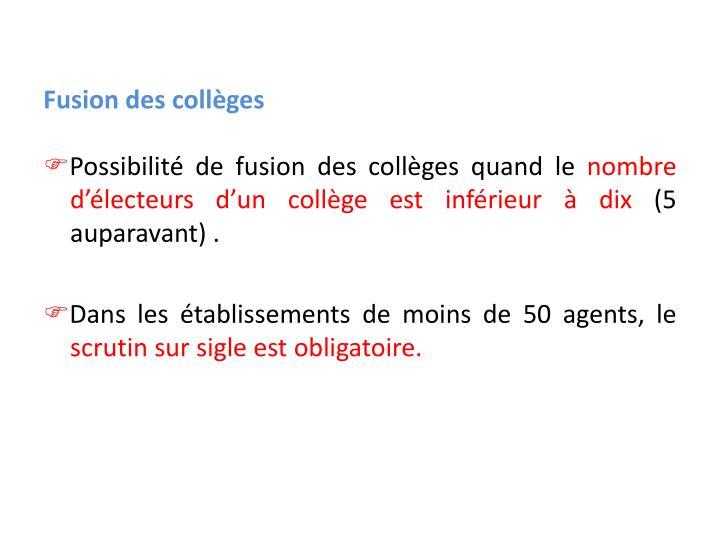 Fusion des collèges