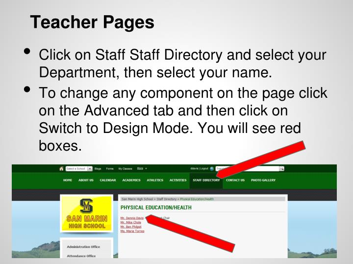 Teacher Pages