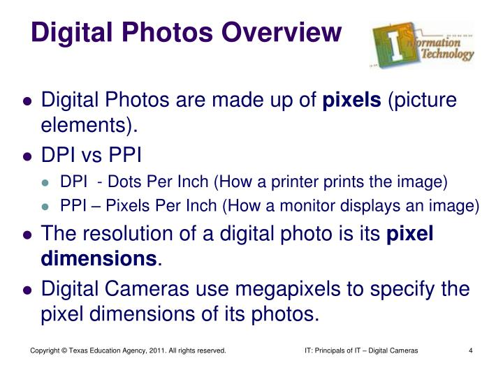 Digital Photos Overview